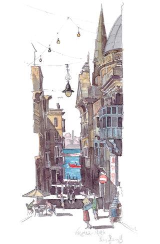 Illustration of street