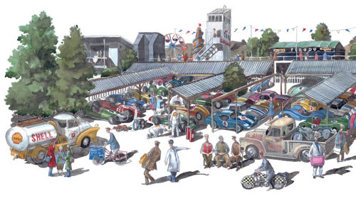 Illustration of vehicle parking