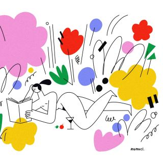 Line illustration of perfect day by Lin Chen