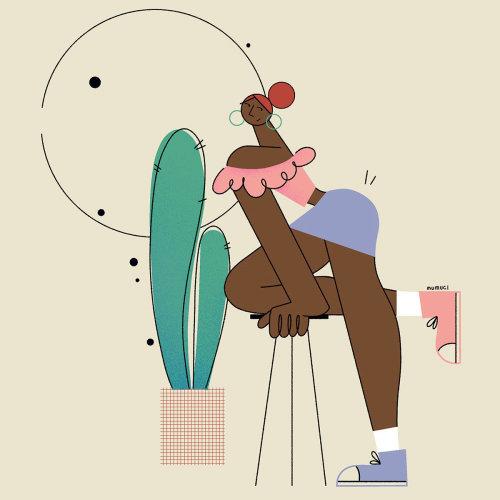 Ilustração de mulheres elegantes