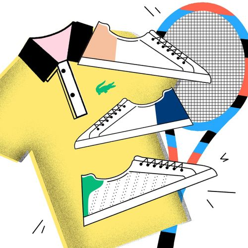 Lacoste sportswear Illustration for YOHO magazine