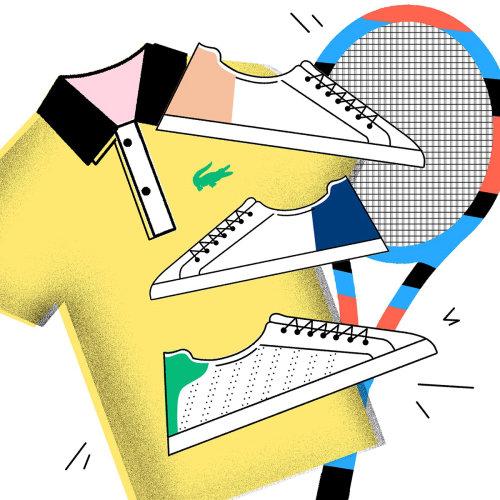 Lacoste sportswear Ilustração para a revista YOHO
