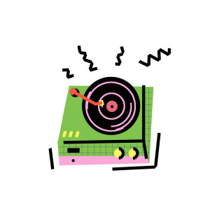 Graphical illustration of gramophone