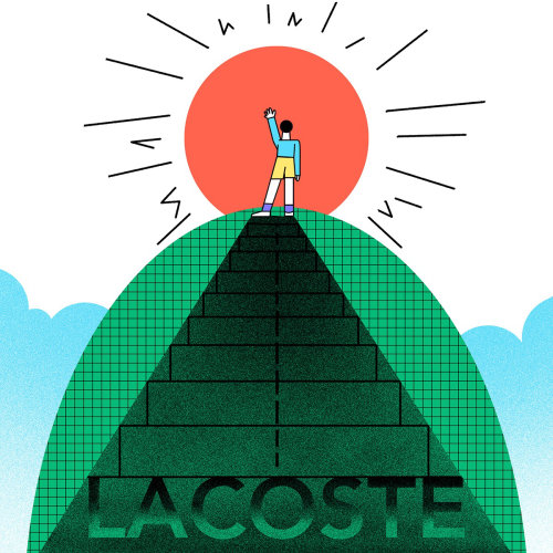 Editorial illustration for Lacoste by Lin Chen
