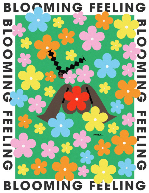 Blooming feeling illustration by Lin Chen