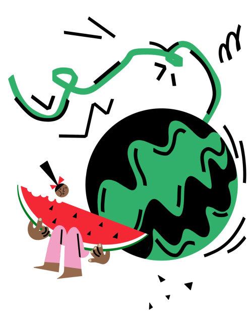 Graphic watermelon girl