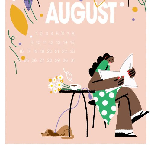Lifestyle august calendar
