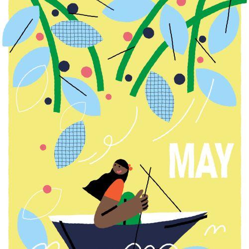 Graphic May Calendar