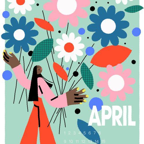 Graphic April wallpaper