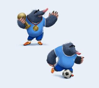 Cartoon animal playing sports