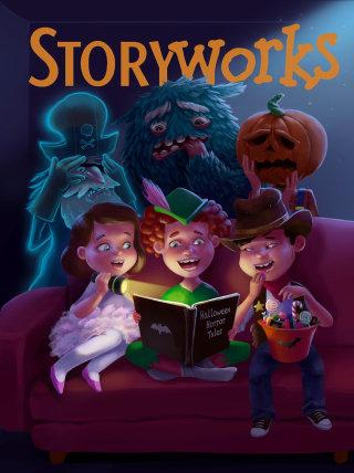 Digital Art Of Kids Reading Story Book
