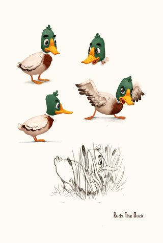 Duck Character Design By Lisa Beta