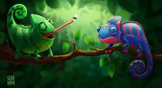 Chameleon | Animal illustration collection