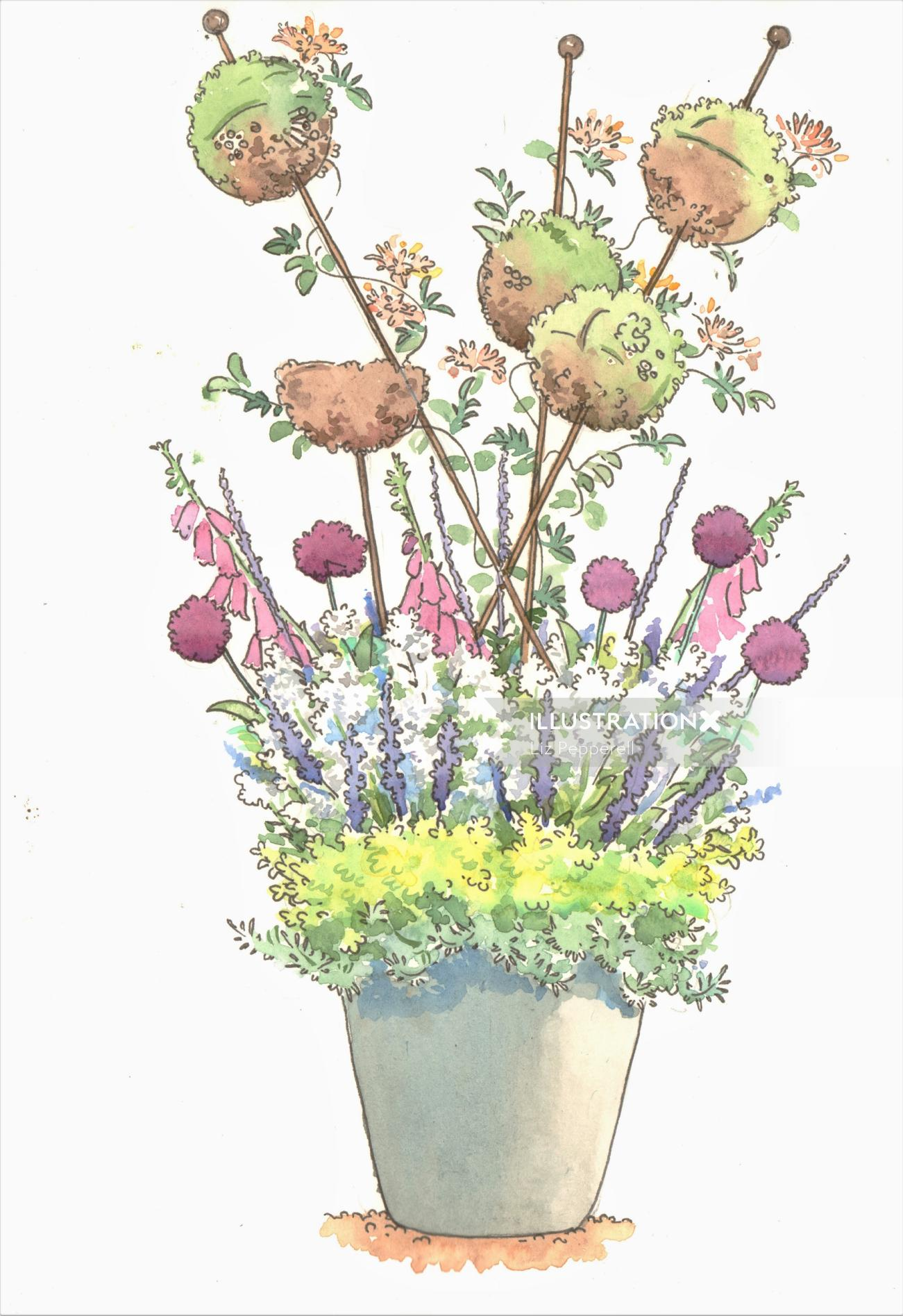 Illustration of pollinators plot