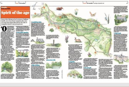 Wales Walk Map