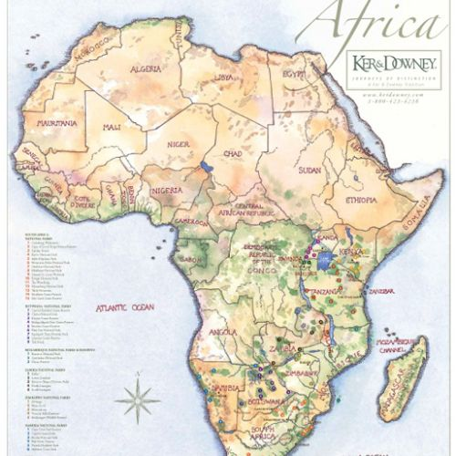 The Africa map illustration