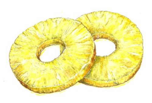 Small pineapple rings
