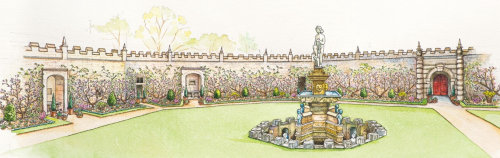Bolsover Castle Fountain Garden