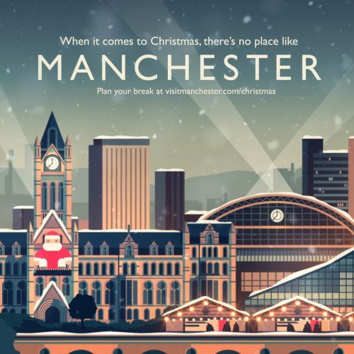 Cartoon clip of Manchester City in Christmas