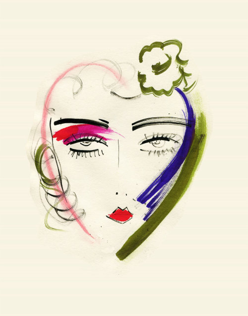 Beauty Line drawing of face