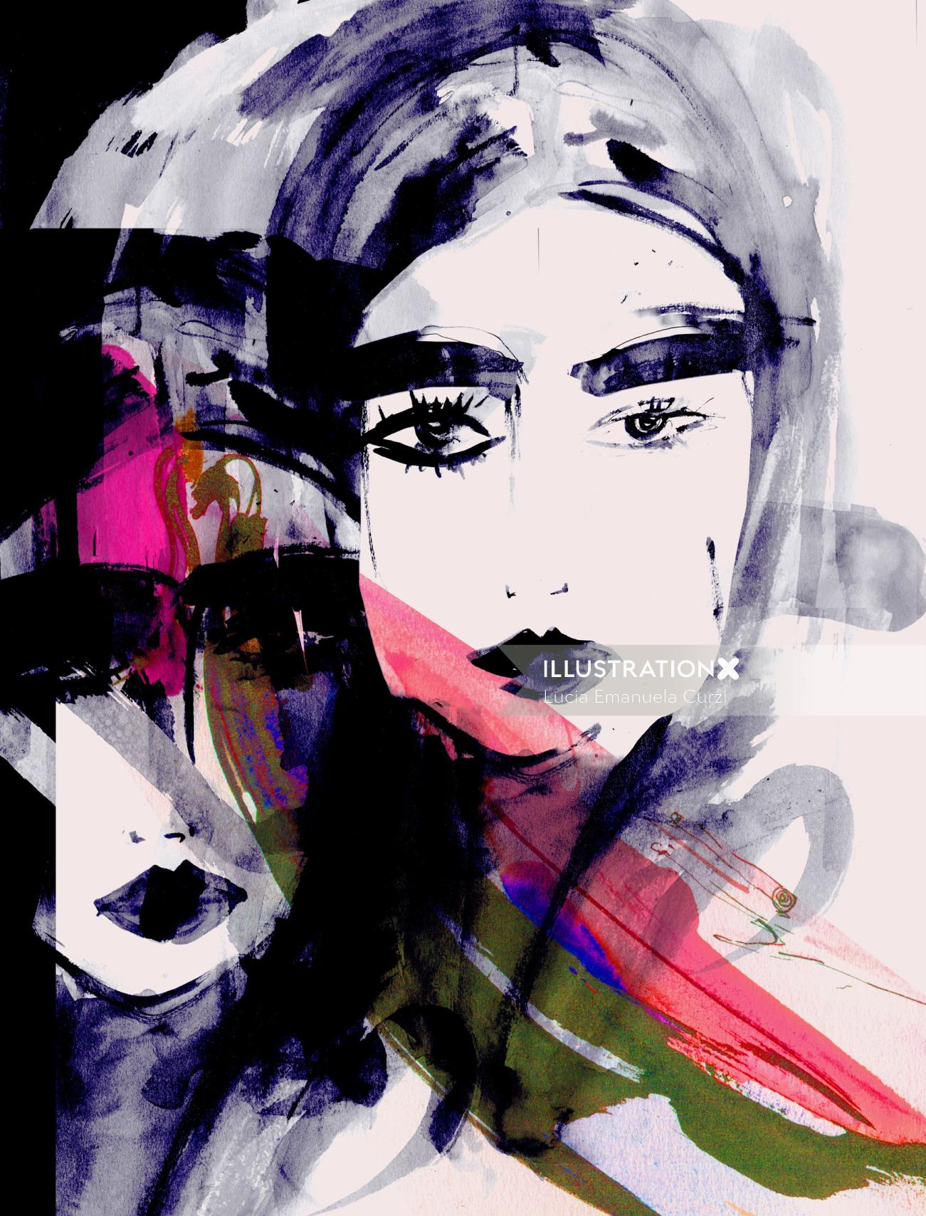 Beauty woman painting