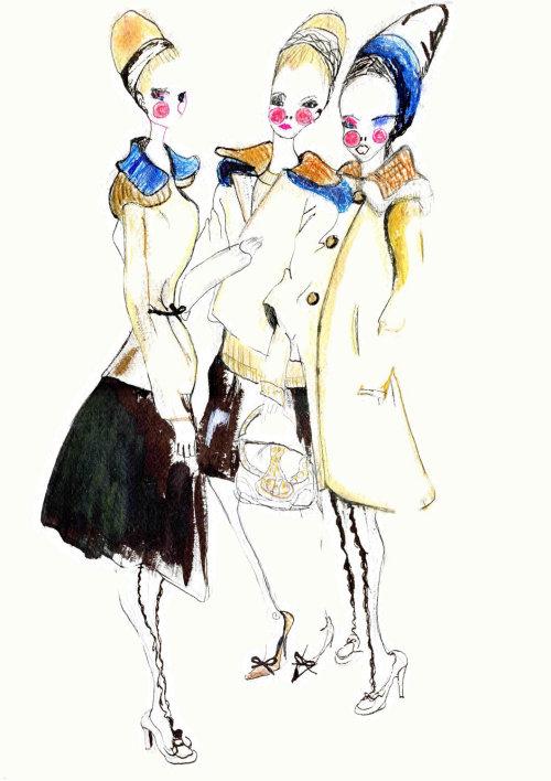 Fashion Painting women models