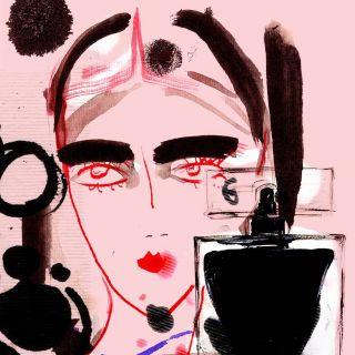 Loose line illustration of model
