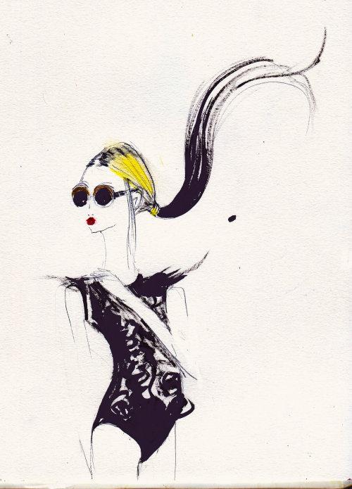Line Fashion Model drawing