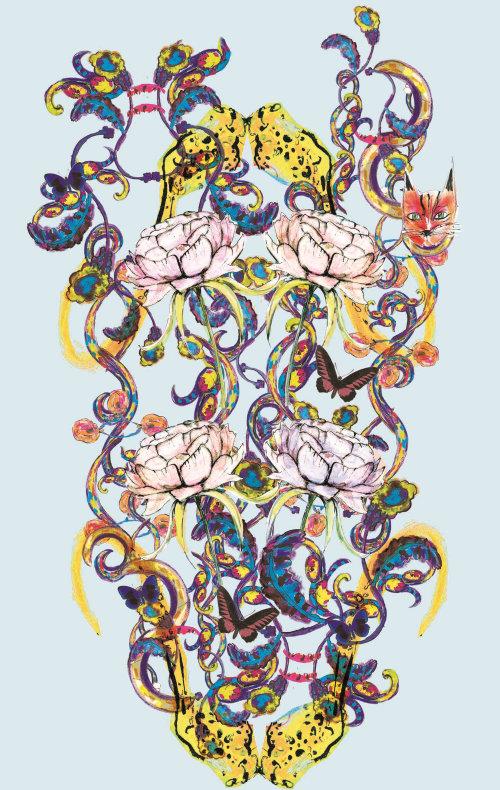 Beauty illustration of flowers