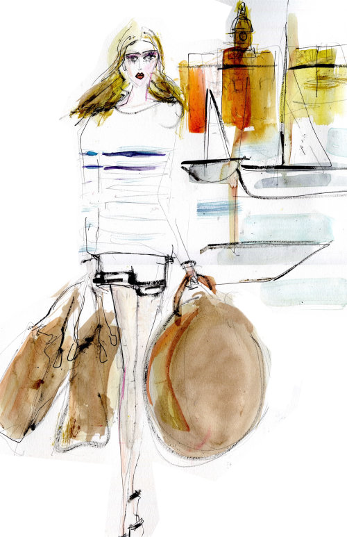 Lifestyle woman with bags