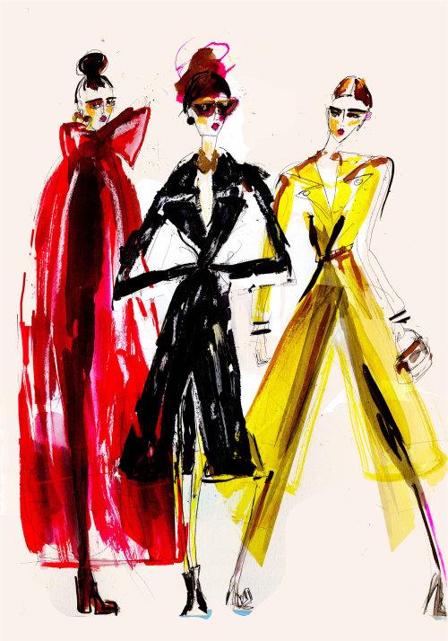 Editorial fashion of models