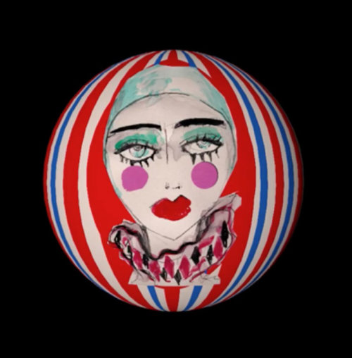 Animation ball of woman