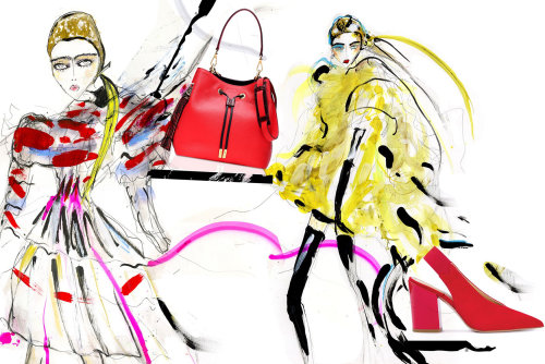 Fashion Illustration model acessories