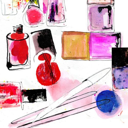Nail polish illustration by Lucia Emanuela Curzi