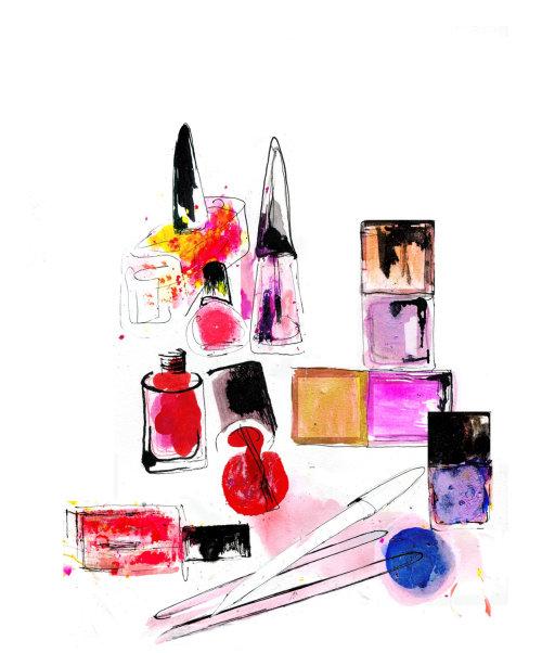 Nail polish illustration by Lucia Emanuela Curzi