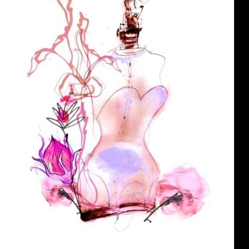 Fragrance bottle illustration by Lucia Emanuela Curzi