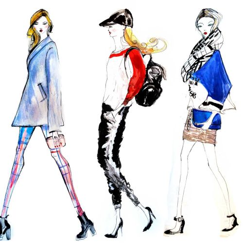 Tredy fashion women illustration by Lucia Emanuela Curzi