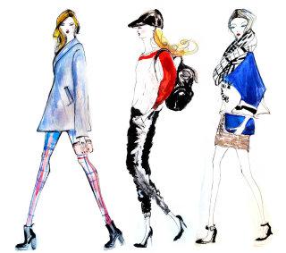 Tredy fashion women illustration by Lucia Emanuela Curzi