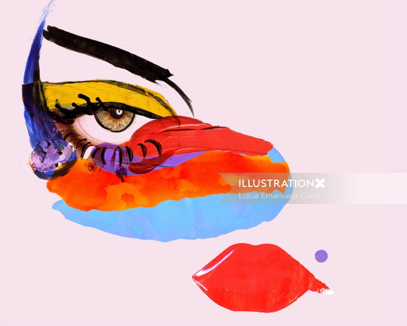 Eye illustration by Lucia Emanuela Curzi