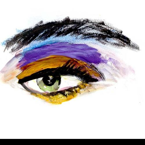 Eye fashion illustration by Lucia Emanuela Curzi