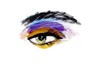 Eye fashion illustration by Lucia Emanuela Curzi