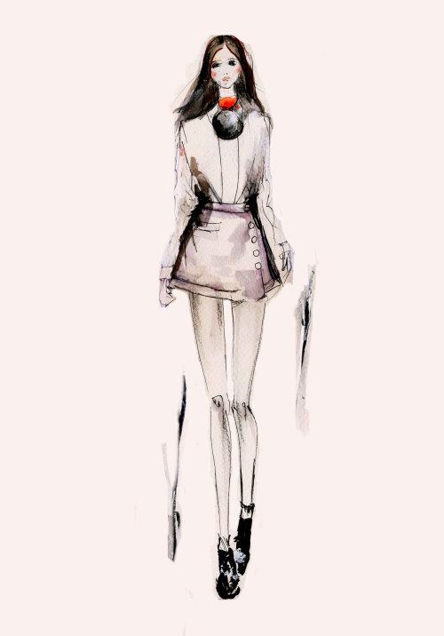 Girl fashion illustration by Lucia Emanuela Curzi