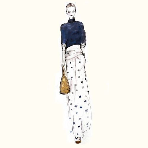 Woman fashion illustration by Lucia Emanuela Curzi