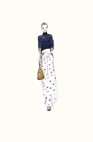 Woman fashion illustration by Lucia Emanuela Curzi