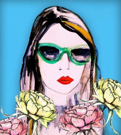Ilustración de moda mujer de Lucia Emanuela Curzi