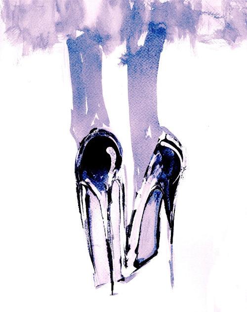 Female heels illustration by Lucia Emanuela Curzi