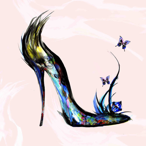 Fashion Footwear with nature pattern