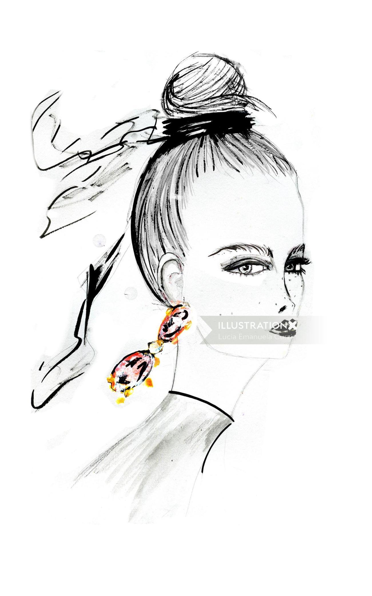 Jewllery advertising ear rings