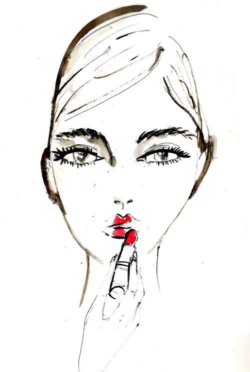 Beauty Portraits line illustration