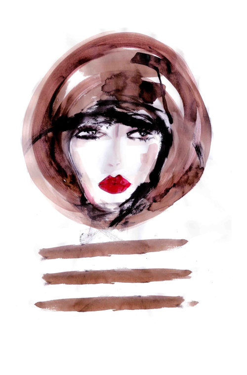 Beauty ink woman face